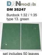 Листья лопуха зелёные, набор  13