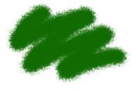 Краска акриловая зеленая авиа-интерьер