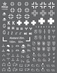 Маркировка бронетехники Германии. WWII. Набор 1