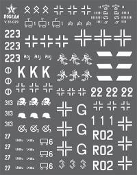 Ранняя маркировка германской бронетехники. Операция «Барбаросса». WWII. Набор 1