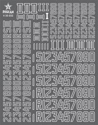 Номера бронетехники Германии. WWII. Вариант 3. Высота: 5,76/7,20/9,36 мм