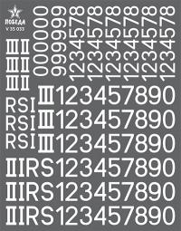 Номера бронетехники Германии. WWII. Вариант 4. Высота: 7,56/9,36 мм