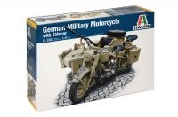 German Military Motorcycle with Sidecar
